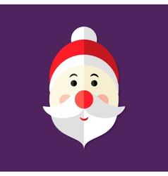 Santa Claus Christmas Flat Icon vector image vector image