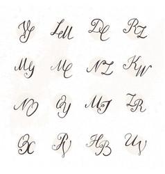 Set of handwritten letters vector