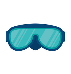 snorkel glasses isolated icon vector image