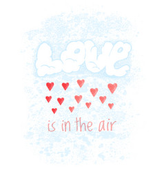 valentines day greeting card with clouds vector image vector image