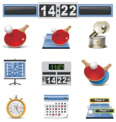 vector table tennis icon set vector image vector image