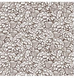 vintage blackberry seamless pattern vector image vector image