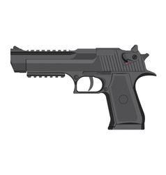 Handgun in grey color vector