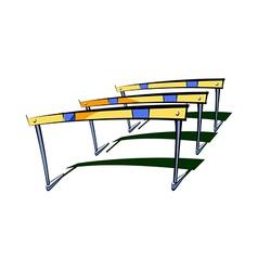 The hurdles vector image
