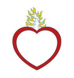 Catholic sacred heart symbol vector