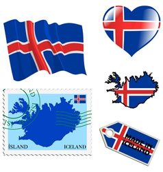 National colours of iceland vector