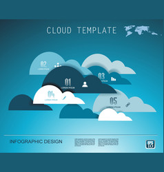 Cloud technology business abstract background use vector