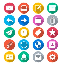 Email flat color icons vector