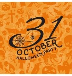 31 october Halloween party concept vector image vector image