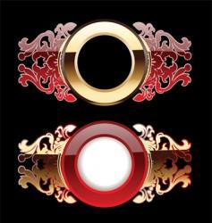 ornate rings vector image