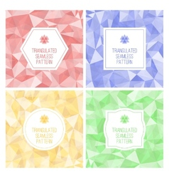 Set of four geometric seamless pattern from vector