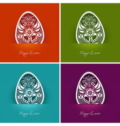 Easter egg labels vector