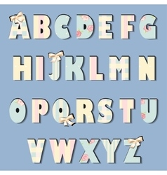 English alphabet shabby chic vector