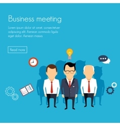 Business meeting and brainstorming flat design vector