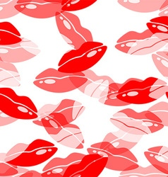 Lipstick pattern vector image