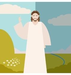 Jesus christ banner vector
