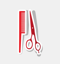 barber shop sign new year reddish icon vector image vector image