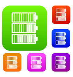 battery indicators set collection vector image vector image