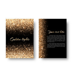 Bling background with glowing lights vector