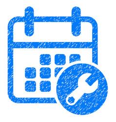 Calendar setup grunge icon vector