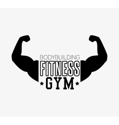 concept bodybuilding fitness arm gym vector image