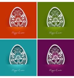 easter egg labels vector image