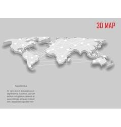 Elegant gray 3d World Map vector image