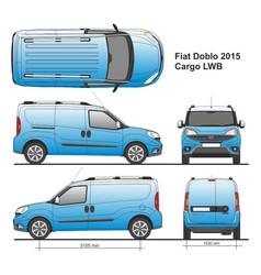 Fiat doblo maxi cargo lwb 2015 vector