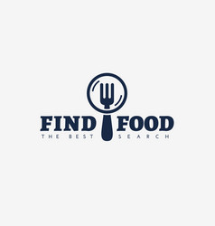 find food logo vector image