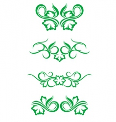 flourishes decorations vector image vector image