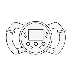Formula 1 steering wheel vector