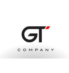 Gt logo letter design vector