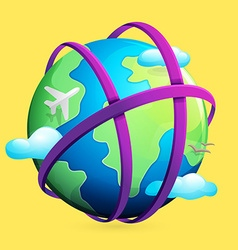 H letter logo and Earth vector image