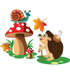 Hedgehog cartoon vector