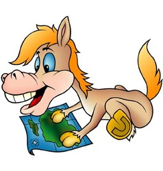 Horse and Map vector image vector image