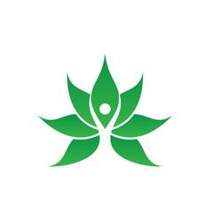 human leaf spa logo image vector image vector image