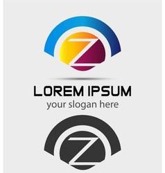 Letter Z Logo Design Creative Symbol of letter Z vector image