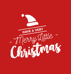 Merry christmas calligraphy santa vector