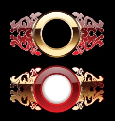 Ornate rings vector