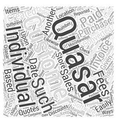 Quasar software word cloud concept vector