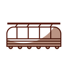 Shadow cute train cartoon vector