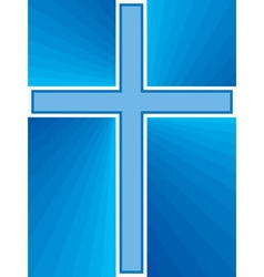 Shiny cross abstract vector