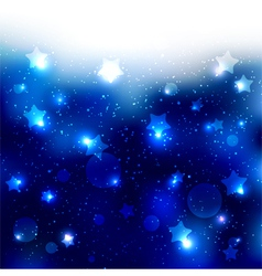 Sparkling blue star celebration background vector