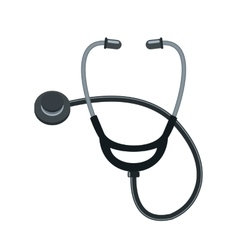 Stethoscope cartoon icon on white background vector image vector image