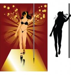 striptease vector image vector image