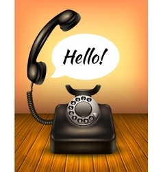 Telephone with speech bubble vector