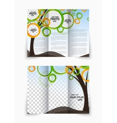 Trifold brochure vector image vector image