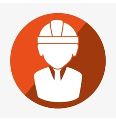 Icon silhouette worker construction design vector