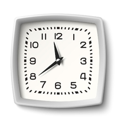Classic station wall clock with white body isolate vector