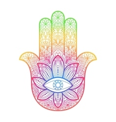 Hamsa Hand of Fatima Amulet vector image